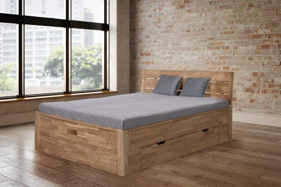 Dubová masívna posteľ Denisa 180 x200 cm, vrátane roštov