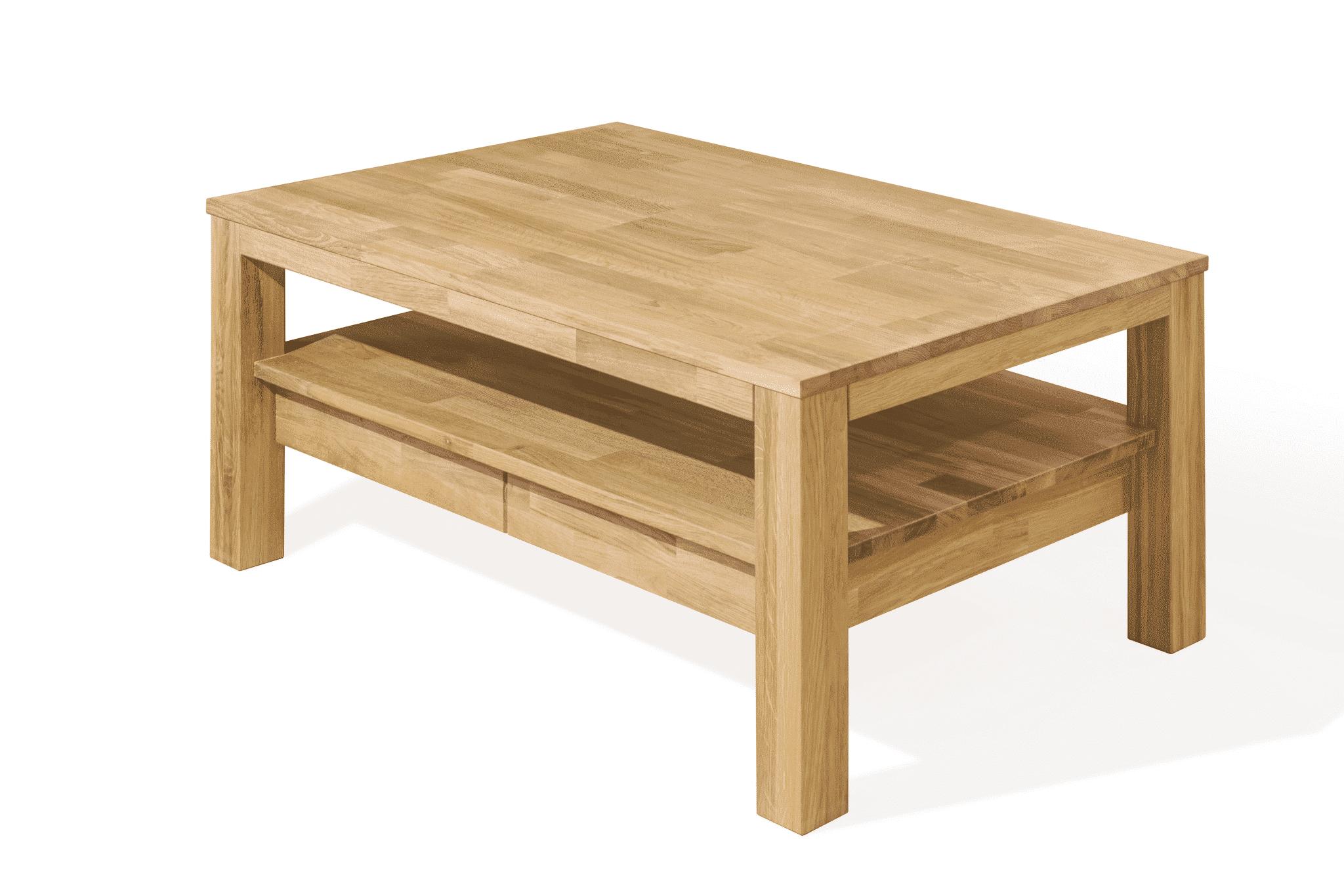 Masívny dubový konferenčný stolík Porto