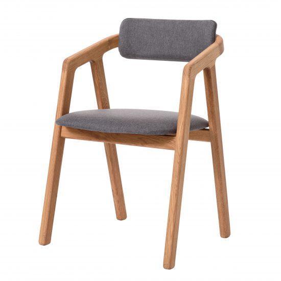 Dubová olejovaná polstrovaná židle Aksel