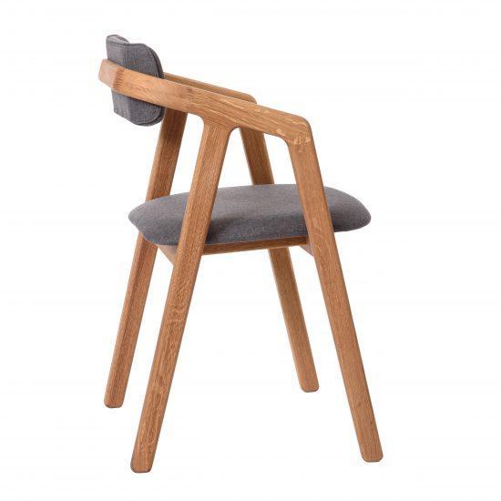 Dubová olejovaná polstrovaná stolička Aksel