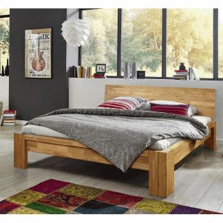 Dubová masivní postel Montana