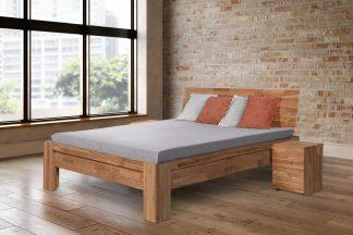 Dubová masívna posteľ Montana, vrátane roštov