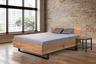 Dubová masivní postel Admiral 180x200 cm, včetně roštů