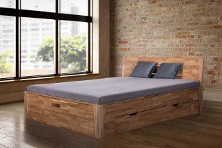Dubová masivní postel Angelina 180x200 cm, včetně roštů