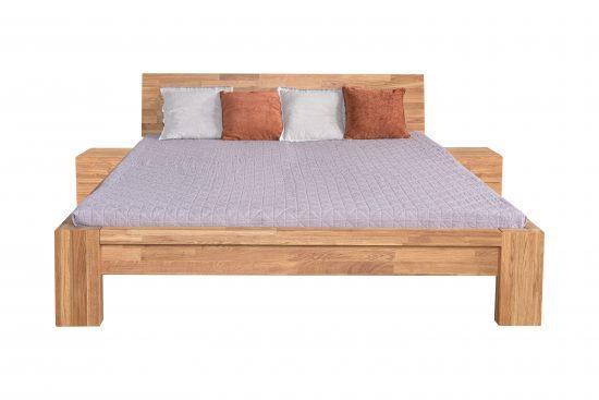 Dubová masívna posteľ Angelina 180x200 cm, vrátane roštov