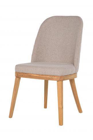 Dubová olejovaná polstrovaná židle Bloom béžová látka