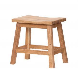Dubová olejovaná polstrovaná stolička Pillar hnedá látka