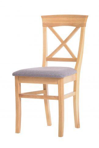 Jaseňová lakovaná stolička Torino svetlosivá látka