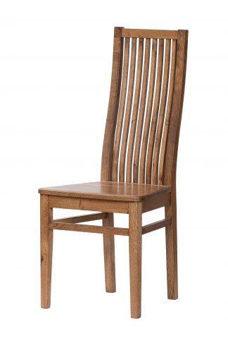 Dubová lakovaná stolička Sandra rustik