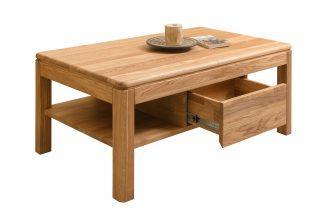 Masivní dubový konferenční stolek Lausanne se zásuvkou